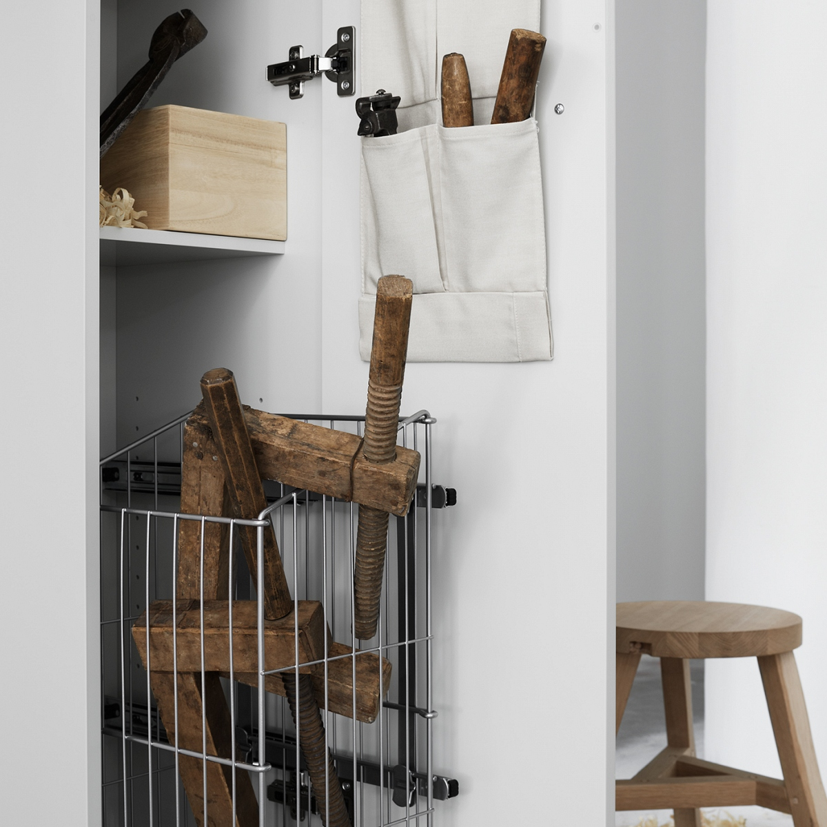 Laundry Basket, for High Cabinet